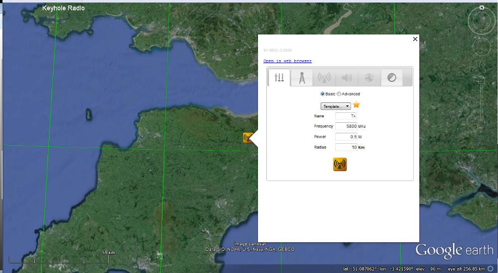 Keyhole Radio™ for Google earth   CloudRF